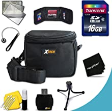 Starter Accessory Kit for Fuji FinePix S9800, S9900W, S9400W, S9200, S8600, S8500, S8400W, S8300, S8200, S6900, AX660, AX650 P530, AXS2950, S2950, S6800, S6700, S4800, S4700, S4600, S4500, S4400, S4300 Digital Cameras Includes 16GB High Speed Memory Card + Padded Medium size Case + Universal Card Reader + Mini Table Tripod + Memory Case Holder + Screen Protectors + Deluxe Cleaning Kit + Lens Cap Holder + Ultra Fine HeroFiber Cleaning Cloth