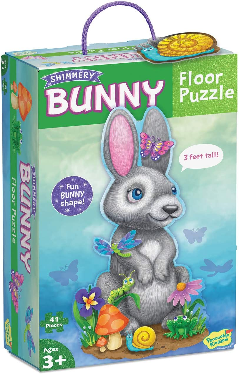 Peaceable Kingdom Shimmery Lowest price challenge Bunny – Giant store Puzzle Floor