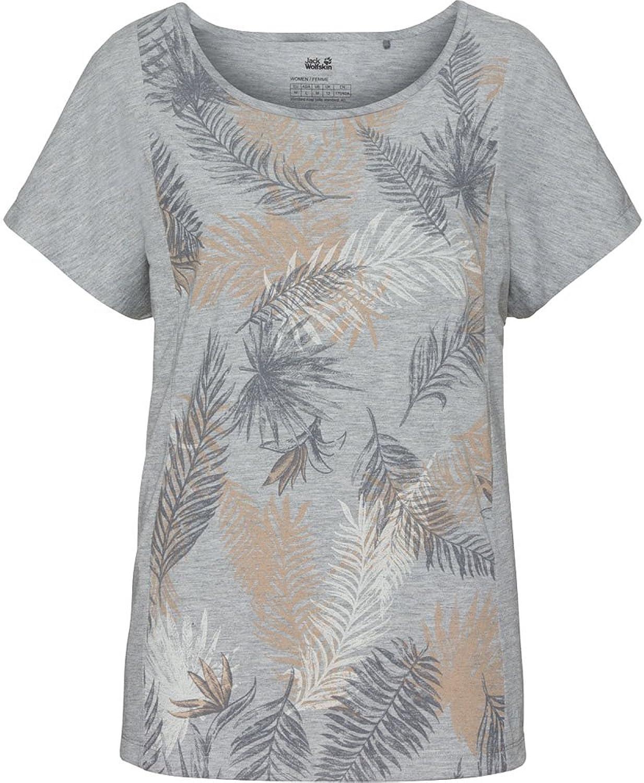 Jack Wolfskin Women's Mgold Palm t TShirt Short Sleeve, XSmall, Alloy