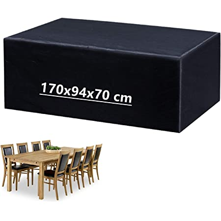 per Mobili da Giardino Copertina Protettiva Impermeabile Traspirante Oxford 420D Rotondo varie dimensioni Copertura Tavolo da Giardino Tavoli da Giardino Mobili Set di Sedute Rettangolari