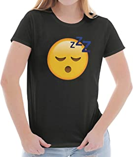 100 Emoji Graphic Novelty Emoticon Nerdy Ladies T Shirt