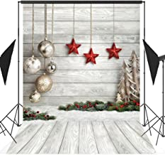 5x7ft Christmas Wood Board Theme Seamless Pictorial Cloth Vinyl Photography Backdrop Customized Photo Backdrops Background Studio Props SDJ-206