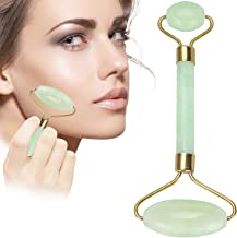 LZLRUN Anti Aging Jade roller Therapy 100% Natural jade facial roller double Neck Healing Slimming Massager (Jade Roller)