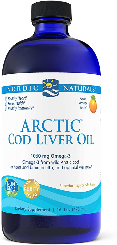 Nordic Naturals Max 66% OFF Arctic Cod Liver Oil Jacksonville Mall Orange 16 oz 1060 T - mg