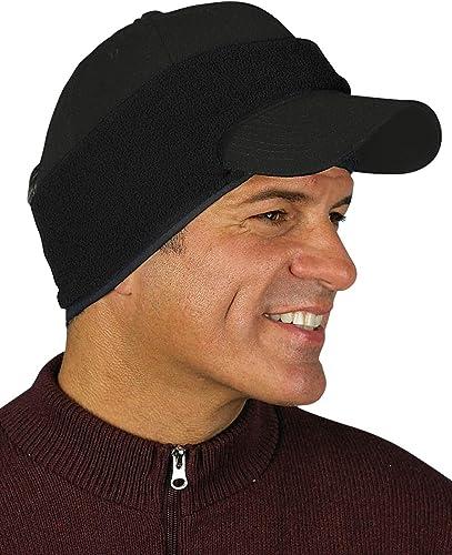 popular Windproof Fleece Cap lowest Ear popular Band - Black outlet sale