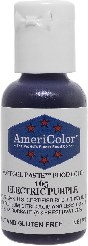 AmeriColor Food Coloring, Electric Purple Soft Gel Paste.75 Ounce