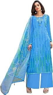 Jinaam Dresses Gorgeous Blue Casual Wear Straight Cut Style Suit