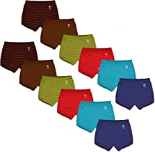 MOTUS Boys & Girls Cotton Inners - Printed Briefs / Trunks / Jetty / Drawer for Kids, Multicolor (Pack of 12)
