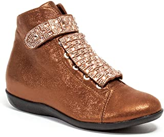 Lady Couture High Top Sneakers with Stones Women's Shoes, Rock