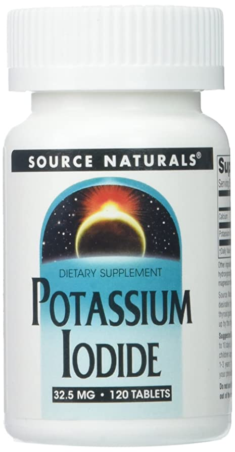 について融合冷淡なSource Naturals, Potassium Iodide, 32.5 mg, 120 Tablets