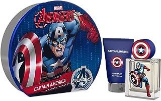 Marvel Captain America Giftset For Boys, Eau De Toilette, 50 ml + Shower Gel, 75 ml