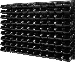 Wandrek stapelboxen - gatenwand 1152 x 780 mm - 99 stuks. Bokken opslagsysteem gereedschapswand Schuderek (zwart)