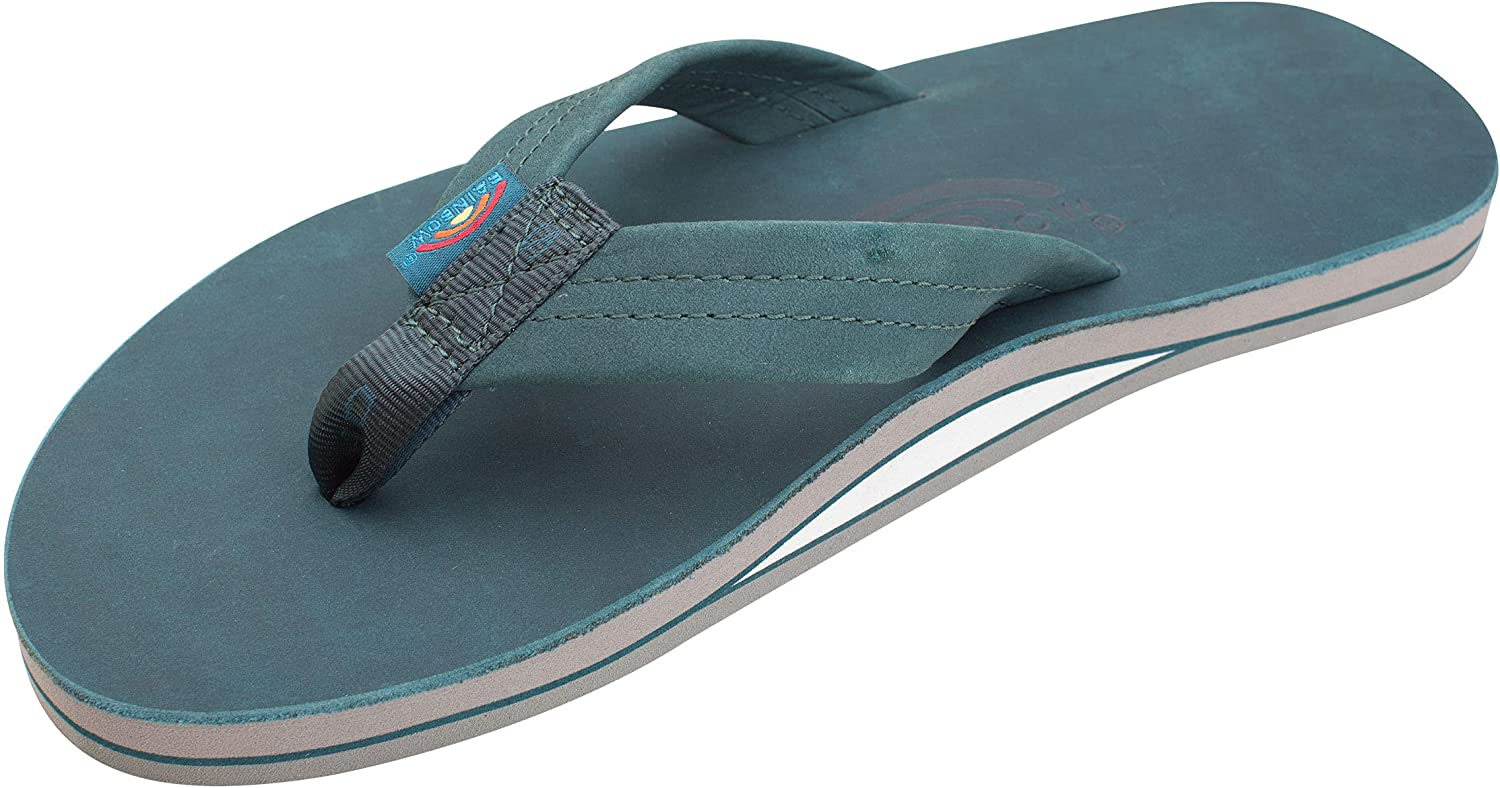 Rainbow Sandals Men's Leather Single Layer Wide Strap with Arch