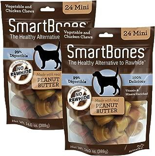 Smartbones Mini Peanut Butter 14oz Bags. 2pk.