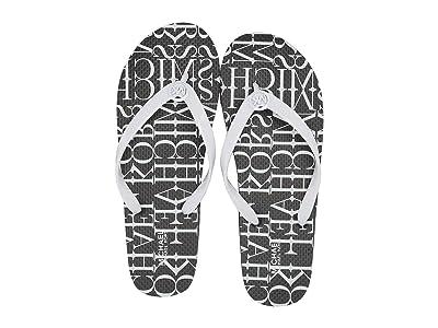 MICHAEL Michael Kors MK Flip-Flop Stripe Eva (Optic White) Women