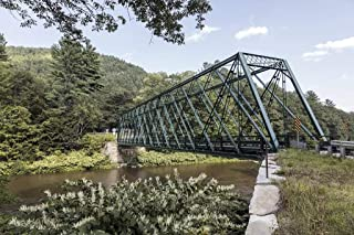 Photograph - A classic iron truss bridge over the West River in Townshend, Vermont- Fine Art Photo Reporduction 66in x 44in