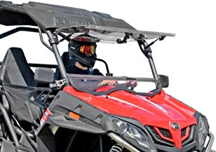 SuperATV Heavy Duty Scratch Resistant Flip Windshield for CFMOTO ZForce 500/800 Trail / 800 EX / 1000 (2014+) - 3 Different Positions!