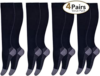 Women and Men Cotton Compression Socks for Travel, Pregnancy, Nurse, Medical