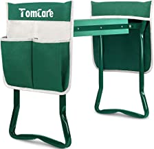 TomCare Upgraded Garden Kneeler Seat Widen Soft Kneeling Pad Garden Tools Stools Garden Bench with 2 Large Tool Pouches Ou...