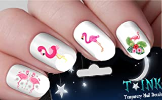 Summer Pink Flamingo and Flowers Set Mixture assortment Nail Art Wraps Water Transfers Nails Decals Nail Stickers TI47