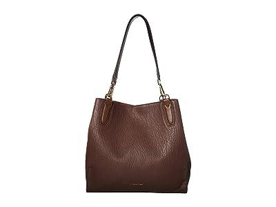 Calvin Klein Elaine Bubble Lamb Novelty Triple Compartment Tote (Walnut) Tote Handbags