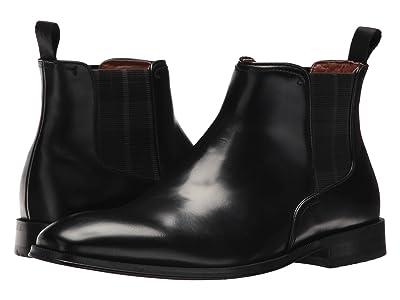 Florsheim Belfast Plain Toe Gore Boot (Black Smooth) Men