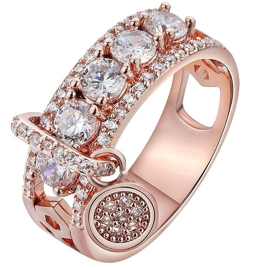 Fyhuzp Girl Ring, White Gold Classic Simulated Diamond Engagement Ring Promise Bridal Wedding Ring
