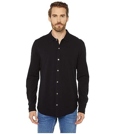 Mod-o-doc Windandsea Long Sleeve Button Front Shirt (Black) Men