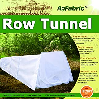 Mini Greehouse Easy Seedling Tunnels 0.95oz Plant Cover with Hoop Grow Tunnel Frost Protection,Plant Cover &Frost Blanket for Season Extension and Seed Germination, 4' Long x 10