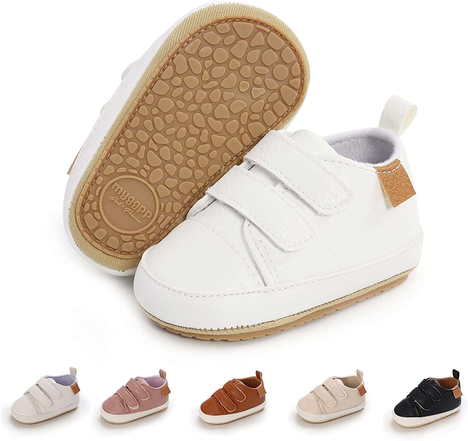BEBARFER Toddler Baby Boys Girls Shoes Infant Moccasins Anti-Slip Sole Newborn Oxford Loafers Sneakers Wedding Uniform Dress Shoes First Walking Crib Shoes Baby Boy Dress Shoes