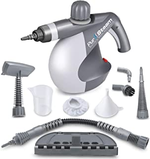 PurSteam World's Best Steamers Chemical-Free Cleaning PurSteam Handheld Pressurized Steam Cleaner with 9-Piece Accessory S...