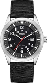 Black Military Analog Wrist Watch for Men, Mens Army Tactical Field Sport Watches Work Watch, Waterproof Outdoor Casual Quartz Wristwatch - Imported Japanese Movement, 5ATM Waterproof Timex Men's Easy Reader Leather Strap 38mm Watch PALADA Men's Digital Sports Watch Waterproof Tactical Watch with LED Backlight Watch for Men Fossil Men's Nate Quartz Stainless Steel and Metal Casual Watch Casio Men's Vintage A168WA-1 Electro Luminescence Watch