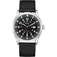 Black Military Analog Wrist Watch for Men, Mens Army Tactical Field Sport Watches Work Watch,...