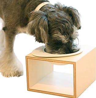 iDog Living Keatキートスクエア1 Lサイズ フードボウル別売 ナチュラル L 犬 食器台