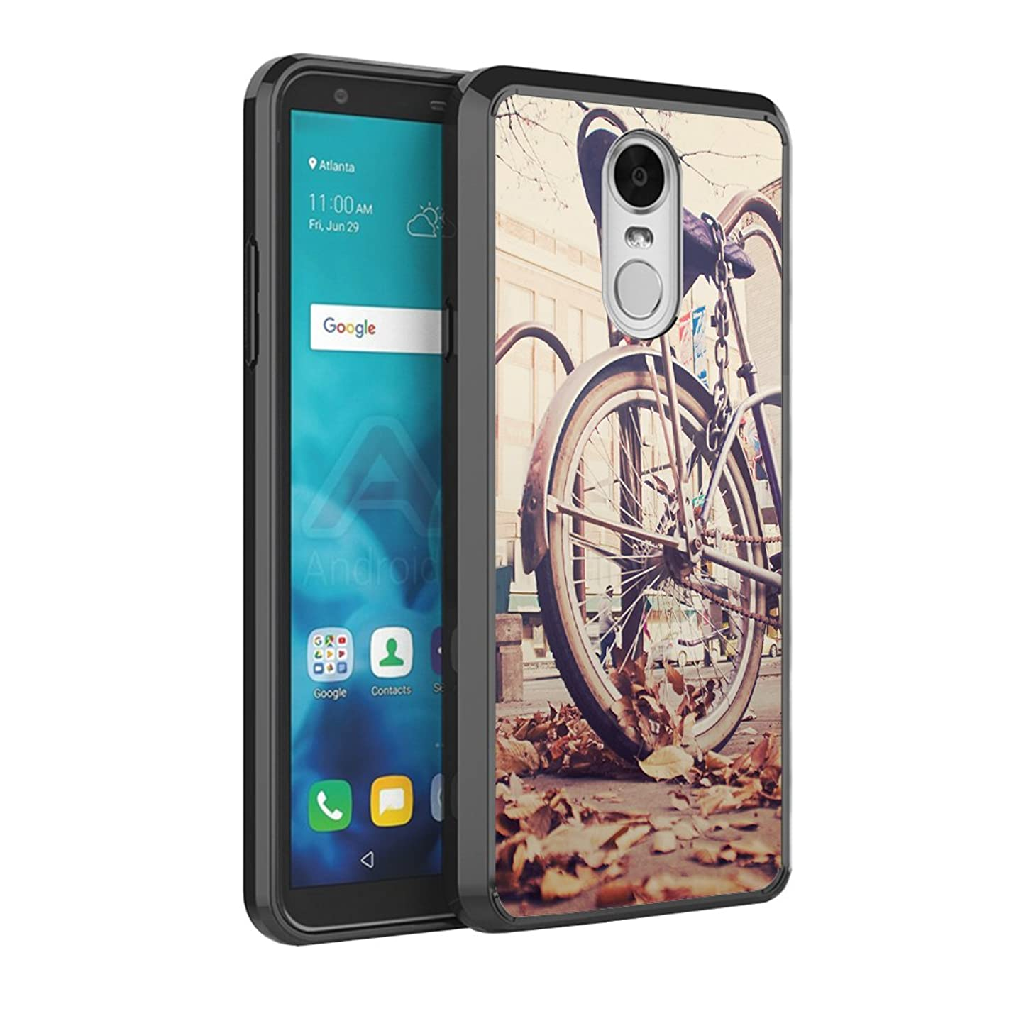 Capsule Case Compatible with LG Stylo 4 Plus, LG Stylo 4, LG Q Stylus [Slim Armor Scratch Resistant Slim Anti-Slip Protective Phone Cover Black Case] for LG Stylo 4 - (Vintage Bicycles)