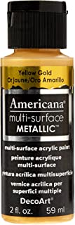 DecoArt Americana Multi-Surface Metallic Paint, 2-Ounce, Yellow Gold