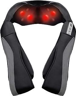 Masseur pour Cou Épaules et Dos, Massage Cervical à Vitesse Réglable, Appareil de Massage Shiatsu Électrique