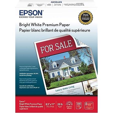"""Epson Bright White Premium Paper - S450218-4 8.5"""" x 11"""" (500 sheets)"""