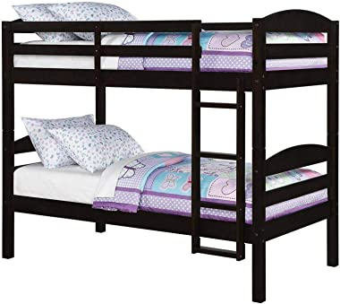 Veta Megica Bunk Beds for Kids Twin Over Twin Wood Bunked Bed Frame Kid Bedroom Furniture
