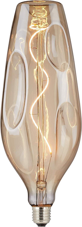 """Living choice 523478 LED-Soft-Filament-Lampe Ella"""", bernstein, auergewhnliche LED-Glühlampen im angesagten Retro-Stil, energiesparend und langlebig, indoor, warm-wei, E27, 4W, 11  30cm"""