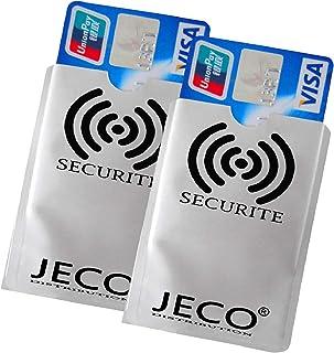 Lot de 2 - Protège Carte Anti-RFID/PAIEMENT sans Contact Carte Bleue visa mas.