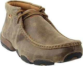 Twisted X Mens Bomber Leather Driving Mocs Casuals Cowboys Boots 8.5M