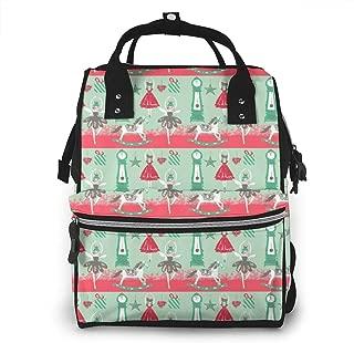 Christmas Nutcracker Multi-Function Travel Backpack Nappy Bag,Fashion Mummy Bag