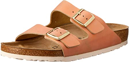 Birkenstock Unisex Arizona Washed Metallic Suede Sandals