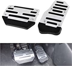 Fly5D Universal Racing Sports Non-Slip Auto Car Brake Accelerator Pedal Pad Vehicle Automatic at Car (Silver)