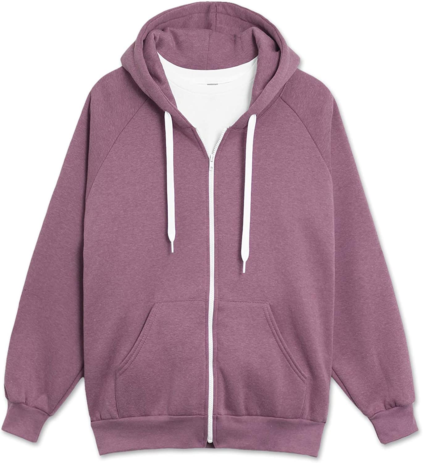 JC A surprise price is realized DISTRO Men's Raglan Hooded Fleece Unisex Zip-up Jacket Hoodie Limited time for free shipping