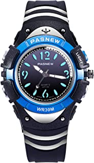 Boys Watch Kids Analog Wrist Waterproof 7 Color Backlight...