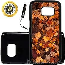 Custom Galaxy S7 Case (Fall Season Leaves) Edge-to-Edge Plastic Black Cover Ultra Slim | Lightweight | Includes Stylus Pen by Innosub