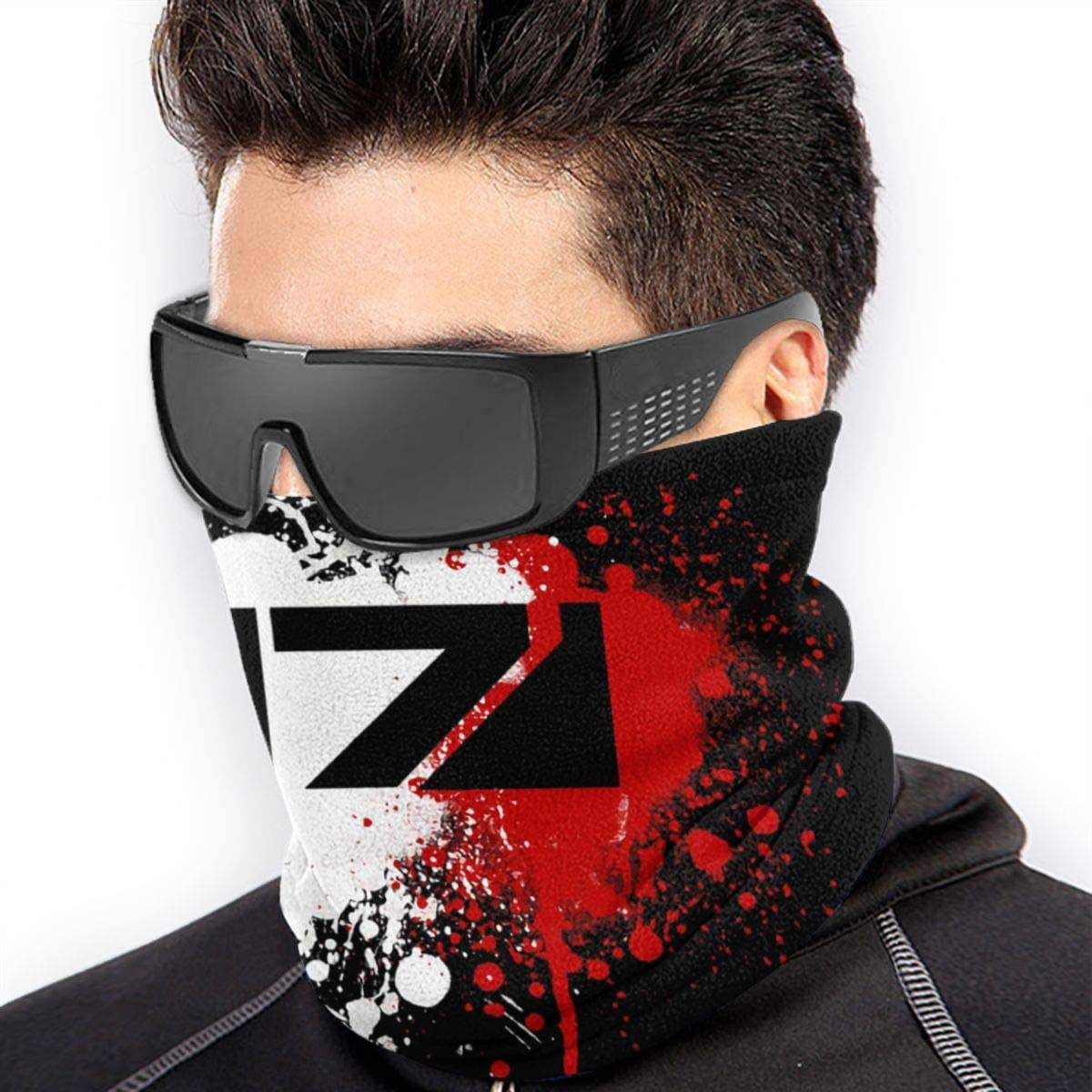 MUHBXC Mass Effect N7 Logo Cool Neck Gaiter Scarf Balaclava Face Clothing for Outdoor Cycling Running