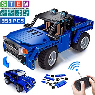 VERTOY Remote Control Building Kits, STEM Toys for Boys 6-12 Year Old, Educational Construction Set for Pickup Truck or Racing Car Model, Learning Gifts for Boys and Girls